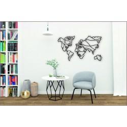 "Арт 1108, Декор на стену ""Карта Мира Лица"""