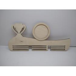 Арт 1091,  Медальница с рамкой под фото