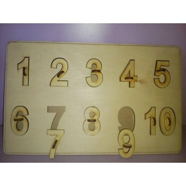 Арт 04, Пазлы цифры