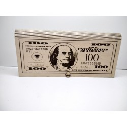 "Арт 1090,  Шкатулка - купюрница ""100 Долларов"""