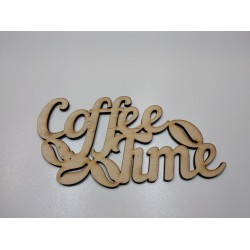 "Арт 1001, Слово ""Coffee time"" фанера 6мм"
