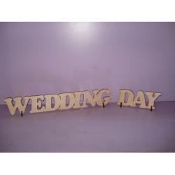 "Арт 459, Слово ""Wedding day"" , фанера 6мм"