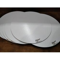 Арт 1078,  Подложка под торт круг белая. Усиленная подложка для торта 30 см