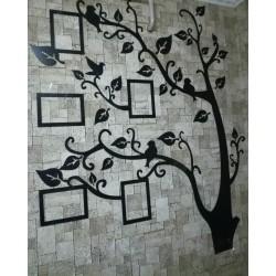 Арт 1095, Семейное дерево с фото рамками, декор на стену